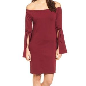 Burgundy Bobeau Dress